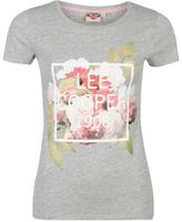 Lee Cooper Womens Fashion Photo T Shirt Crew Neck Tee Top Short Sleeve