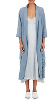 Giada Forte Women's Embroidered Voile Robe-BLUE
