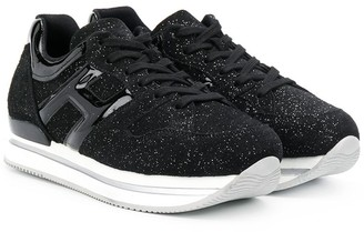 Hogan TEEN H222 glittery sneakers
