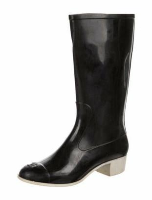 Chanel Rubber Rain Boots Black