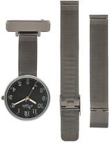 Bermuda Watch Company Annie Apple Empress Interchangeable Gunmetal Grey Mesh Wrist To Nurse Watch