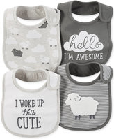 Carter's Baby Boys' or Baby Girls' 4-Pack Little Lamb Teething Bibs