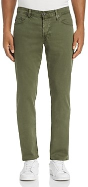 AG Jeans Graduate Tapered Fit Twill Pants in Sulfur Climbing Ivy