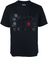 Markus Lupfer Skull and bones applique T- shirt - men - Spandex/Elastane/Viscose - L