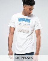 Jacamo Tall T-Shirt With Nevada Print In Ecru