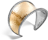 John Hardy Women's Classic Chain 42.5MM Cuff in Sterling Silver and Hammered 18K Gold