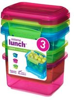 Sistema® To Go Food Storage Containers (Set of 3)