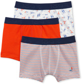 Petit Bateau Set of 3 boys plain/striped/printed boxers