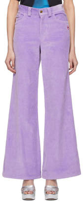 Marc Jacobs Purple Corduroy The Flared Trousers