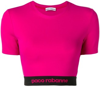Paco Rabanne Logo Cropped Sports Top