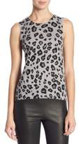 Saks Fifth Avenue COLLECTION Cashmere Animal Printed Shell