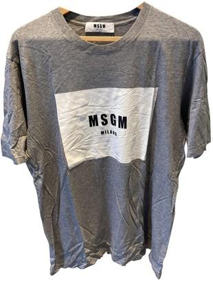 MSGM Grey Cotton T-shirts