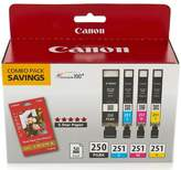 Canon Black and Color Ink Cartridges with Photo Paper