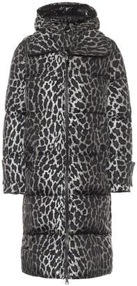 Moncler Keller leopard-print down coat
