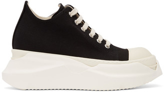 Rick Owens Black Abstract Low Sneakers