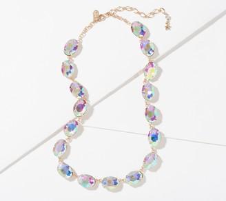 Kirks Folly Aurora Borealis Essentials Oval Cut Tennis Necklace