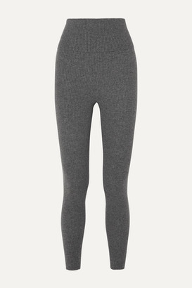 Eres Attitude Ribbed Wool And Cashmere-blend Leggings - Gray