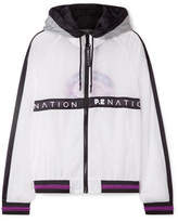 P.E Nation Two Klicks Printed Shell Hooded Jacket - White