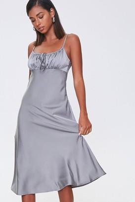 Forever 21 Ruched Satin Dress
