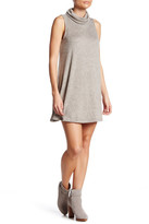 Bobeau Cowl Neck Sleeveless Fleece Dress (Petite)
