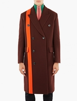 Paul Smith Red Double Breasted Wool Coat