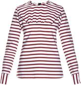 Marni Breton-striped gathered top