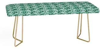 East Urban Home Little Arrow Co Modern Moroccan Emerald Faux Leather Bench East Urban Home