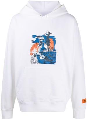 Heron Preston Heron embroidered hoodie