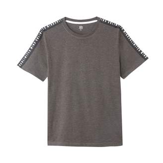 La Redoute Collections Short-Sleeved Cotton Mix T-Shirt with Slogan