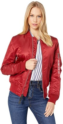 Alpha Industries MA-1 Flight Jacket (Red) Women's Coat
