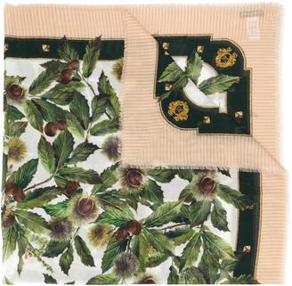 Dolce & Gabbana Chestnut Print Scarf