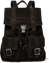 Proenza Schouler Leather paneled suede backpack