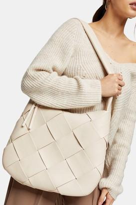 Topshop Womens Stone Woven Hobo Bag - Stone