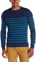 Original Penguin Men's Long Sleeve Crew with Placed Pima Cotton Stripes