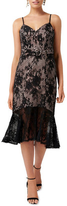 Forever New Erika Belted Lace Dress