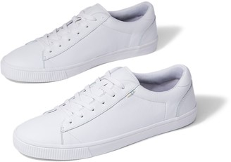Toms White Leather Mens Carlson Sneakers