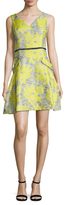 Donna Ricco Floral Applique Flared Dress