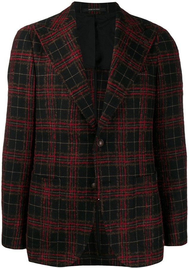 Tagliatore check single-breasted blazer