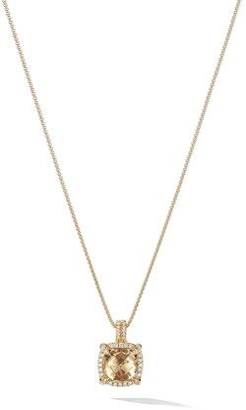 David Yurman 18kt yellow gold Chatelaine citrine and diamond pendant