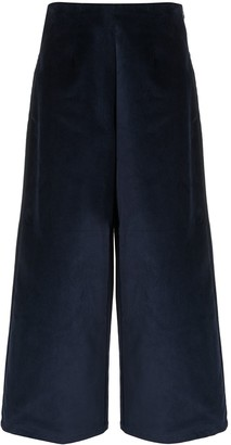 Folk Wide-Leg Velvet Trousers