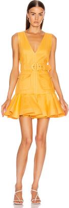 Zimmermann Super Eight Safari Mini Dress in Mango   FWRD