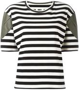 MM6 MAISON MARGIELA striped T-shirt - women - Cotton/Polyurethane/Spandex/Elastane/Viscose - XS