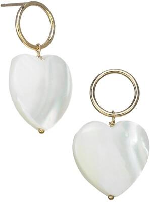 Kozakh Heart Drop Earrings