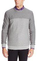 Calvin Klein Men's Cotton Acrylic Mouline Crew Neck Sweater