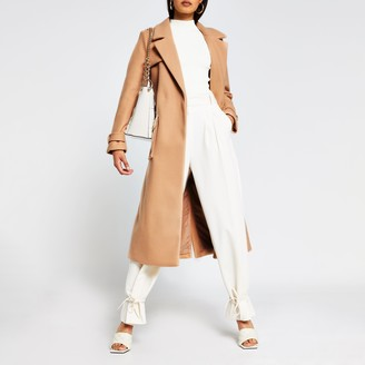 River Island Womens Beige utility long line belted coat