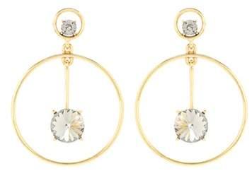 Oscar de la Renta Crystal drop hoop earrings