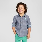 Cat & Jack Toddler Boys' Chambray Woven Shirt Cat & Jack - Blue