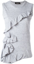 DSQUARED2 ruffled tank top - women - Cotton/Viscose - XXS