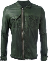 Giorgio Brato chest pocket jacket - men - Cotton/Leather/Nylon - 48