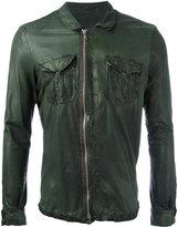 Giorgio Brato chest pocket jacket - men - Leather/Nylon/Cotton - 48